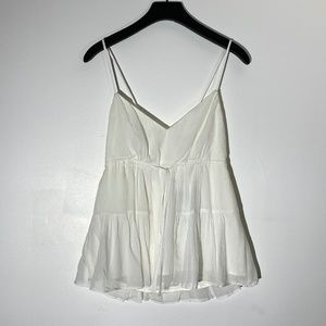 White tie strappy babydoll top small